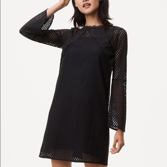 2074e254101f LOFT Dresses & Skirts - Loft Mesh Bell Sleeve Dress NWT